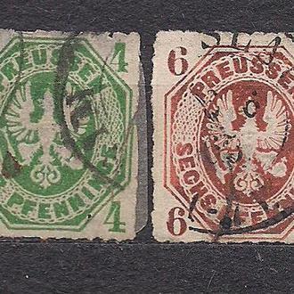 Немецкие земли, Preusen, 1861 г., первые марки