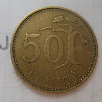 ФИНЛЯНДИЯ, 50 пенни 1971 года.