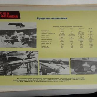 Плакат средства поражения (управляемые бомбы) США и Франции. Минобороны СССР