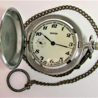 Часы Молния СССР карманные на ходу с цепочкой