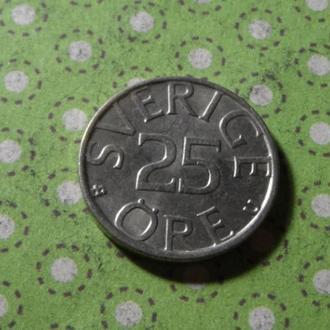Швеция 1980 год монета 25 эре !