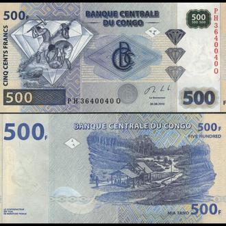 КОНГО 500 франков 2013г. UNC
