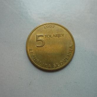 Словения 5 толаров 1997 юб