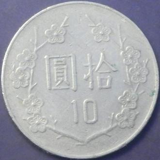 10 доларів 1990 Тайвань
