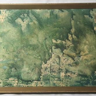 """Шульган А.В. """"Зелень"""". Акварель, картон. Размеры 41,5х61,5 см."""
