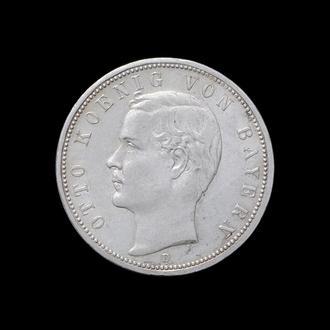 5 Марок 1913 Отто,(50) Баврия