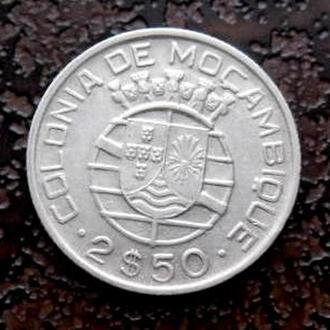 2,5 ЭСКУДО МОЗАМБИК 1950 состояние !!! серебро