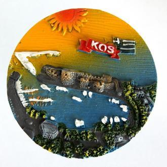 Коллекционный магнитик магнит на холодильник Остров Кос Kos Греция