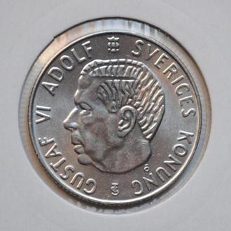 Швеция 1 крона 1961 г. TS, UNC, 'Король Густав VI Адольф (1950-1973)'