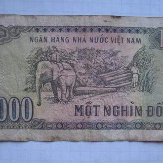 ВЬЕТНАМ, 1000 донгов 1998 года.