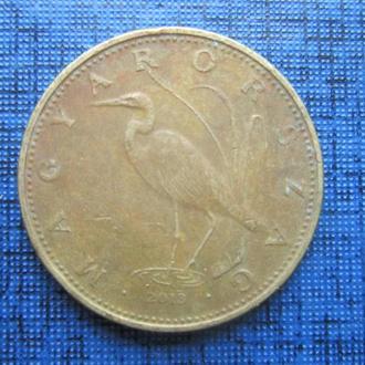 Монета 5 форинтов Венгрия 2013 фауна птица