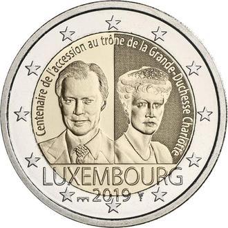 Shantal, Люксембург 2 Евро 2019, 100 лет вступления на престол Великой Герцогини Люксембурга Шарлоты