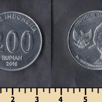 Индонезия 200 рупий 2016