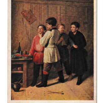 Открытка, ИЗОГИЗ, живопись, худ. Лашин, 1955
