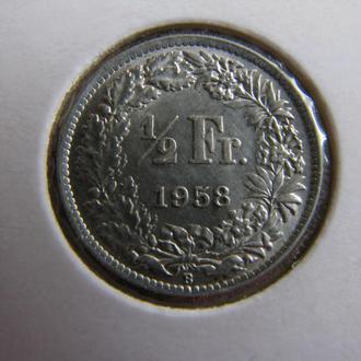1/2 франка 1958