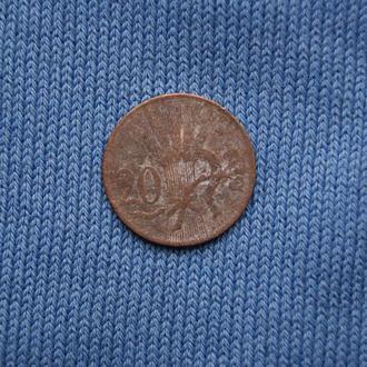Чехословакия 20 геллеров 1948 г