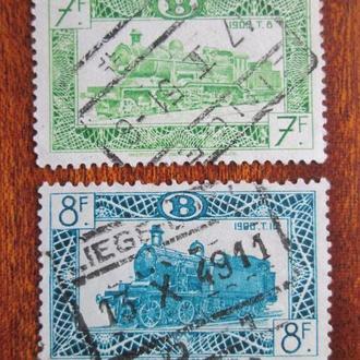 Бельгия.1949г. Транспорт. Локомотивы.