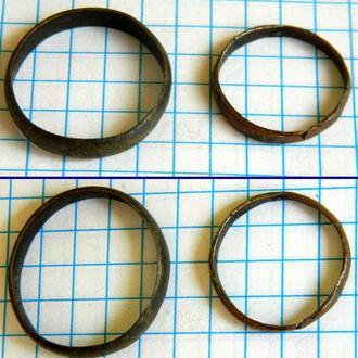 Кольца обручальные 18-19 вв (медь)
