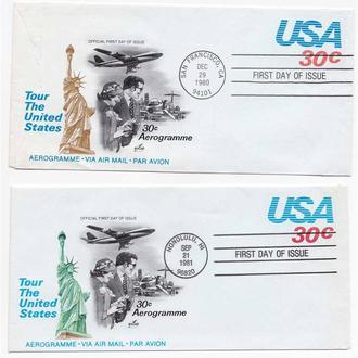 Авиация . USA / США 1980 и 1981 г  -