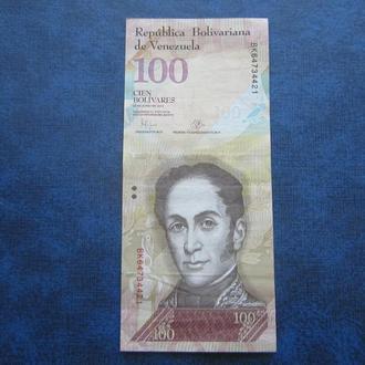 банкнота 100 боливаров Венесуэла 2015 состояние №1