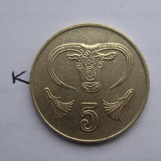 КИПР, 5 центов 1998 года.