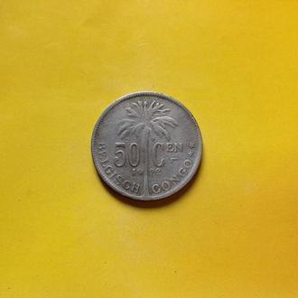 Бельгийское Конго 50 центов 1922 г.