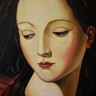 """Сучасна картина в стилі ренесанс """"Мадонна Анна"""". Традиційна техніка"""