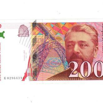 200 франков Франция 1998 год