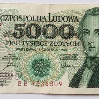 5 000 злоти 1986 г ПОЛЬША
