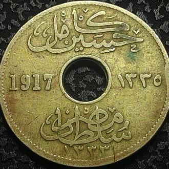 Египет 5 миллим 1917 год.