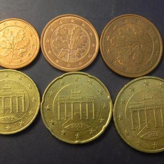 Комплект євроцентів Німеччини 2002 J