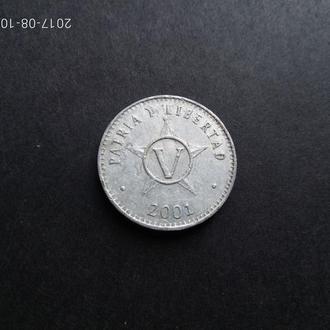 Куба 5 сентаво 2001