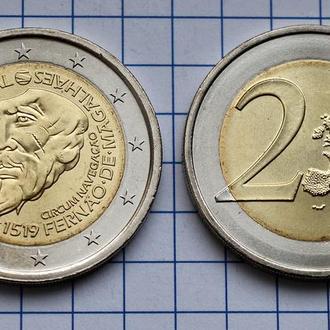 Португалия 2 евро, 2019 500 лет кругосветному плаванию Магеллана