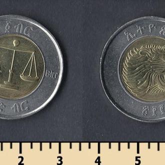 Эфиопия 1 бырр 2002