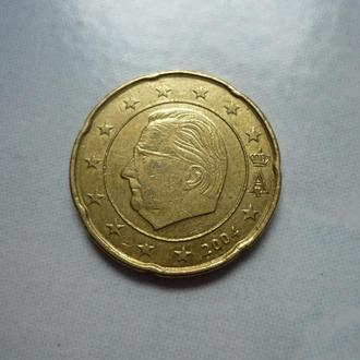 Бельгия  20 евроцентов 2004