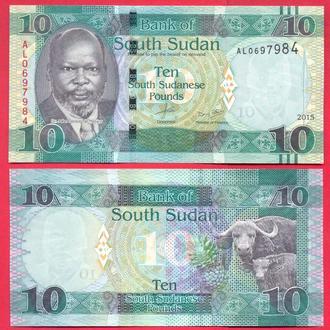 Боны Африка Судан Южный 10 фунт 2015 г.