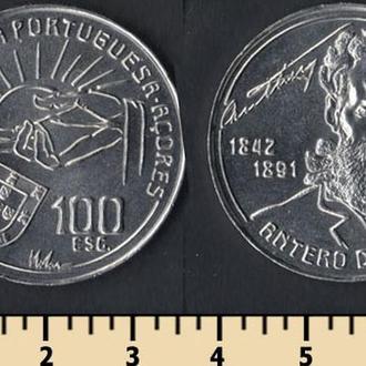 Азорские о-ва 100 эскудо 1991