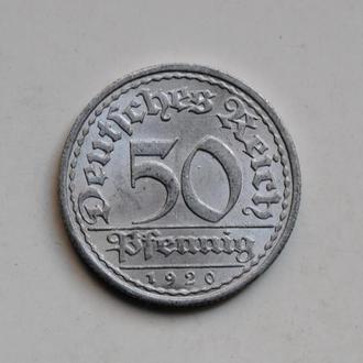 Германия 50 пфеннигов 1920 г. A