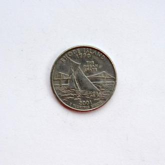 США - 25 центов Rhode Island 2001