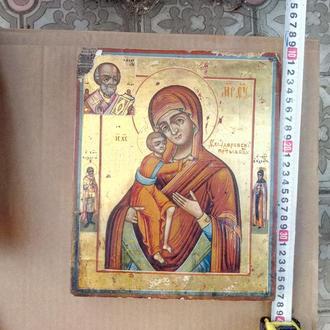Феодоровская икона Б.М. на золоте Ветка
