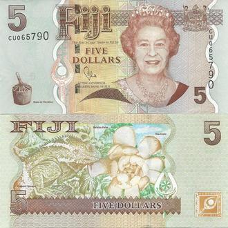Фиджи 5 долларов 2007 UNC