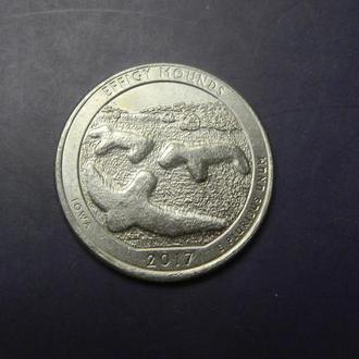 25 центів 2017 P США Еффіджі-Маундз