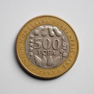 Западная Африка (BCEAO) 500 франков 2003 г., 'Франк КФА BCEAO (1958-2016)'