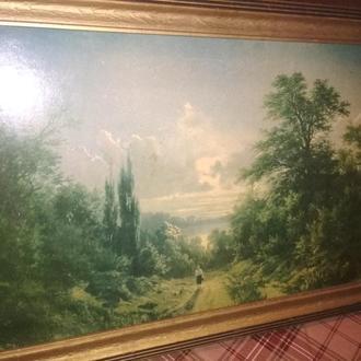 Картина закат солнца художник П.Джогин