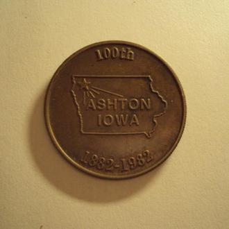 Медаль 100-летие штата Айова 1882-1982