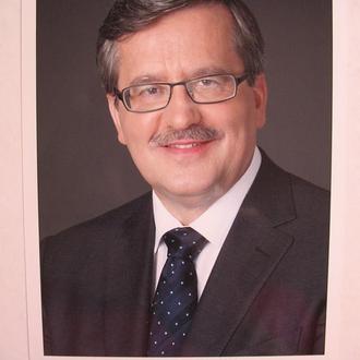 Автограф Бронислав Коморовский - экс-президент Польши