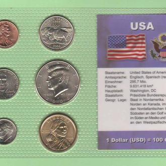 Набор монет США пластик блистер запайка