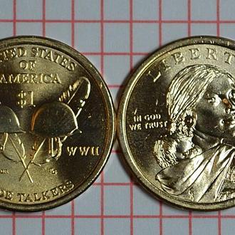 "1 доллар, серия ""Коренные Американцы"" - Индейцы-радисты, 2016 г"
