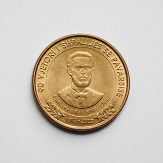 Албания 50 лек 2002 г., UNC, '90 лет Декларации о независимости'