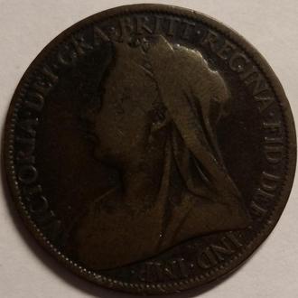 Англия 1 пенни 1901 год